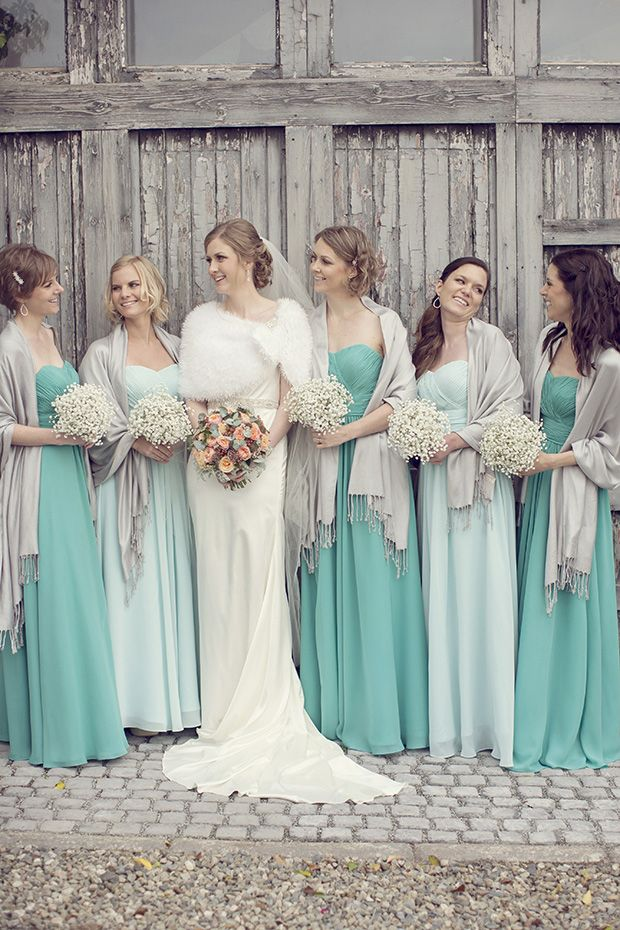 Robe de soirée verte longue pour mariage