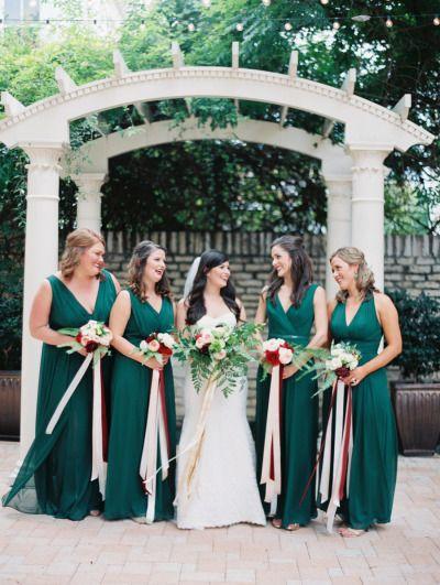 Robe demoiselle d'honneur verte longue