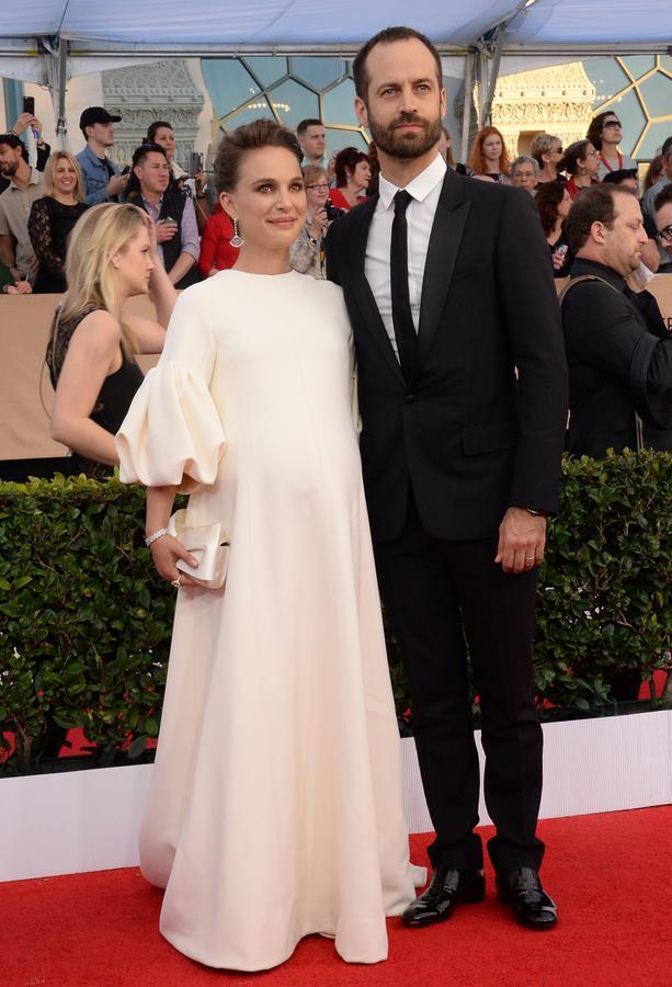 Robe de soirée blanche enceinte Natalie Portman
