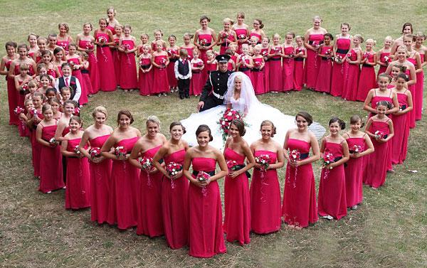 Robes-demoiselle-d'honneur-rouge-longue