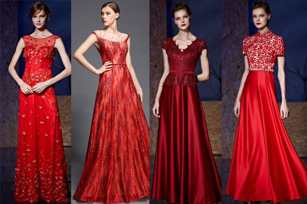 Robe rouge longue pour occasion