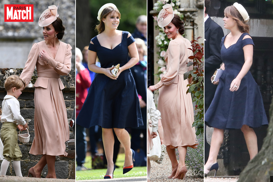 Mariage de Pippa Middleton : Kate en rose et Eugenie en bleu